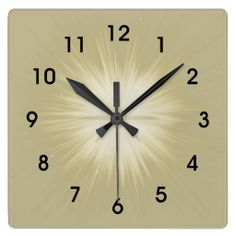 Starburst Gold Wall Clock