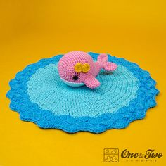 Willa the Whale Lovey / Security Blanket  PDF por oneandtwocompany
