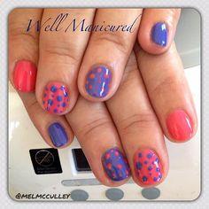 COLORS: #Gelish #SweetMorningDew #HeLovesMeHeLovesMeNot #wellmanicured #nails #nailart