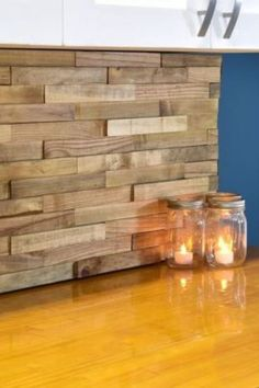 Update your home decor in a day with these easy and simple diy ideas. Home upgrades on a budget. Easy home updates for cheap diy. #hometalk Wood Plank Ceiling, Wood Plank Tile, Wood Planks, Removable Backsplash, Simple Diy, Easy Diy, Home Upgrades, Ship Lap Walls, Cool Diy Projects