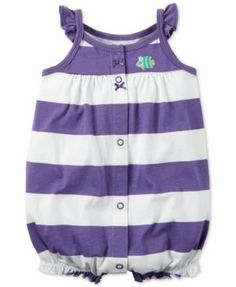 Carter's Baby Girls' Striped Fish Romper - Sets - Kids & Baby - Macy's