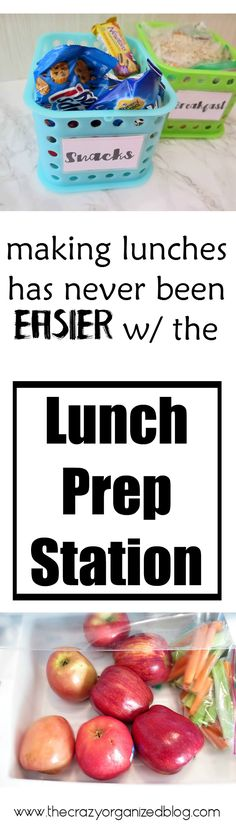 Prepping lunches has never been easier with this easy DIY lunch prep station!