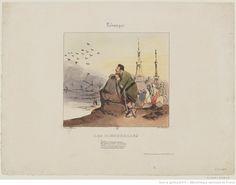 Les hirondelles : [estampe] / Henry Monnier Monnier, Henry (1799-1877). Dessinateur du modèle