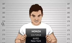 Custom Police Mug Shot Caricature - Personalised Gift - Caricature From Your Photo