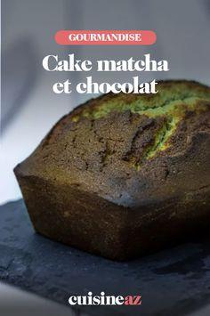 Une recette facile de cake matcha et chocolat à servir en dessert, au gouter ou au petit déjeuner. #recette#cuisine #patisserie #cake #matcha #chocolat