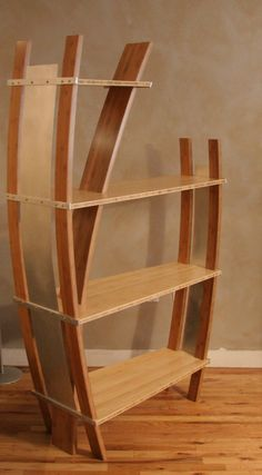 Curved Bookcase in Bamboo - Reader's Gallery - Fine Woodworking
