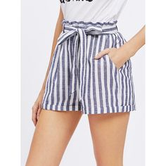 Shop Frill Waist Self Belted Shorts online. SheIn offers Frill Waist Self Belted Shorts & more to fit your fashionable needs. Tumblr Outfits, Mode Outfits, Short Outfits, Short Dresses, Casual Outfits, Women's Casual, Beach Casual, Fashion Mode, Fashion Clothes