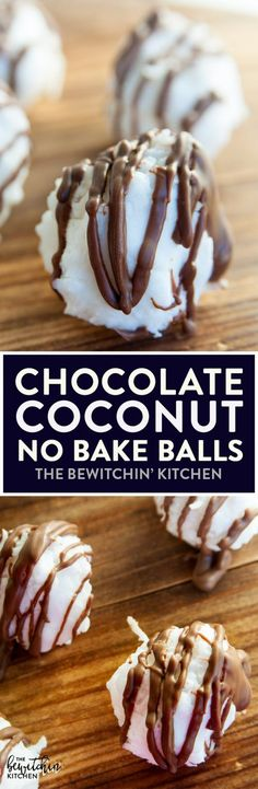 No Bake Chocolate Coconut Balls - a no bake dessert recipe that only uses 4 ingredients. I make these every year for the holidays: Thanksgiving, Christmas, and New Years.