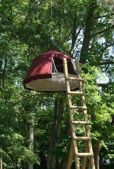 Woody Park - Parc de loisirs à Fécamp en Normandie - Tentes suspendues
