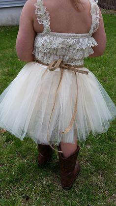 little girls rustic tutu dress | Rustic Flower Girl Dress -Cream/Ivory Tutu/Rustic Flower Girl/Country ...