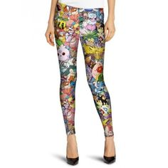 Bazaleas Women Brand Quality Fashion Leggins Skinny Harajuku Pokemon Go Pants Cartoon Leggings Women's Sports Leggings, Running Leggings, Gym Leggings, Best Leggings, Printed Leggings, Workout Leggings, Workout Pants, Leggings Are Not Pants, Waist Workout