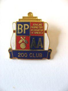 BPAA 200 club. Vintage enamel pin. Bowling Proprieter's Association of America. Great novelty sports gift stocking stuffer. by PickleladyVintage on Etsy