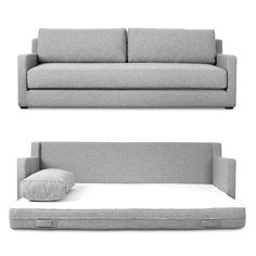 a fairly shallow sofa that doubles as an extra bed - century house in Madison carries Gus Modern furniture