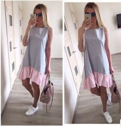Cheap vestidos f, Buy Quality vestidos fashion directly from China summer dress Suppliers: Makkrom Summer Dresses 2017 Casual Loose Patchwork Sleeveless Ruffles O-Neck Mini Dress Fashion Women Dress Ukraine Vestidos Women's Summer Fashion, Look Fashion, Classy Fashion, Party Fashion, Fashion Women, Fashion Design, Female Fashion, Cheap Fashion, Fashion 2018