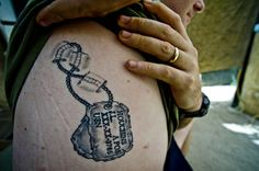 Tattoos for my 41st birthday on pinterest shoulder for Meat tag tattoo
