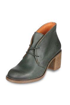 Venda Calçado adulto e criança / 14295 / Kickers mulher / Derbies e richelieux / Derbies de Couro Kensingston Verde Escuro. 44€(119€)