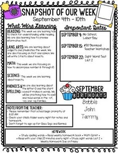 These editable newsletters are a perfect way to communicate with parents. Add and edit text boxes. Add your own clipart. There are tons of possibilities! I have included a Powerpoint version as well as a Keynote version. Weekly Classroom Newsletter, Class Newsletter, Weekly Newsletter Template, Parent Newsletter, Preschool Newsletter, Letter To Teacher, Letter To Parents, Teacher Boards, Parents As Teachers