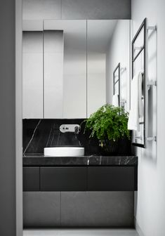 Superb Black Marble Bathroom Design Ideas Looks Classy - Marble has been a popular building material for centuries. Countless works of art have been made out of marble. It is timeless and elegant and adds a . Marble Countertops Bathroom, Black Marble Bathroom, Modern White Bathroom, Bathroom Flooring, Small Bathroom, Marble Bathrooms, Quartz Countertops, Bad Inspiration, Bathroom Inspiration