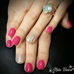 Para amantes de Pink! Pink com gliter prateado