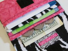 Zebra Print and Pink Wallet #Women's #Wallets #Accessories by EyeCandyQuilts