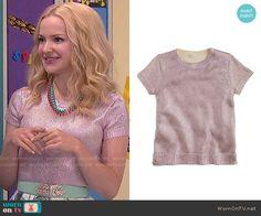 Liv's metallic pink top on Liv and Maddie.  Outfit Details: http://wornontv.net/51130/ #LivandMaddie