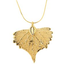Nature Jewelry: Cottony Love: Real Cottonwood Leaves Dipped in Gold I MY MAGNIFICO #love #valentinesday #naturejewelry #necklace #magnifico