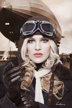 Steampunk ~...dieselpunk not steampunk, the clothes and the airship are later designs and styles.~