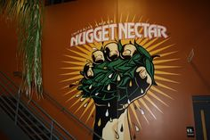 Nugget Nectar painted on the wall as you enter the Troegs brewery, in Hershey, PA