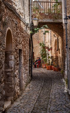 Mesta Village, Chios, Greece