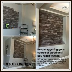 Checkout how we teamed with Restyle Junkie, who creates beautiful artisan textured wood, to build a barnwood inspired distressed wood wall. Hanging Wine Rack, Wine Rack Wall, Diy File Cabinet, Distressed Wood Wall, Pallet Shed, Hanging Swing Chair, Garden Wall Art, White Fireplace, Plank Walls