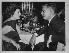 Myrna Loy and Clark Gable, 1958