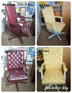 office chair reupholstery. Batchelors Way: Office Redo - How To Reupholster A Chair That I Bought For $5 Reupholstery