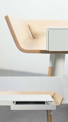 My Writing Desk, from Lithuanian design couple Inesa Malafej and Arunas Sukarevicius of Design Studio Etc.Etc. out of Copenhagen.