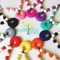 Silicone Nursing necklace Teething necklace by SpangGangDesigns