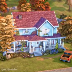 Sims 4 House Plans, Sims 4 House Building, Sims 4 Teen, Sims Cc, Gilmore Girls House, Sims 4 Game Packs, House Outline, Sims 4 House Design, Casas The Sims 4