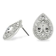 Clara crystal peardrop stud earring made with SWAROVSKI ELEMENTS at debenhams.com
