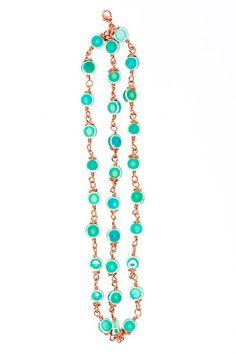 Triple Green Rose Gold Bracelet