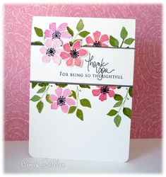 Summer Silhouettes Thank You by frenziedstamper - Cards and Paper Crafts at Splitcoaststampers