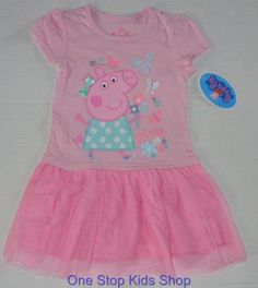 PEPPA PIG Toddler Girls 2T 3T 4T Set DRESS Outfit Shirt Skirt Nickelodeon - http://clothing.goshoppins.com/baby-toddler/peppa-pig-toddler-girls-2t-3t-4t-set-dress-outfit-shirt-skirt-nickelodeon/