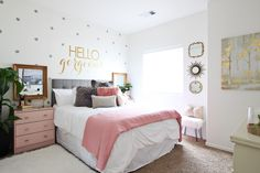 """Today's teen girl's room makeover is very, very special to me and near and dear to my heart.Several months ago, I found out that one of my kid's favorite babysitters, Karli (a teenager we met at church) was soon to undergo major surgery from her pectusexcavatum. Pectus excavatum is a congenital disorder which causes the chest to have a sunken or """"caved in"""" appearance. It is the most common congenital chest wall abnormality in children. Often times, this issue is only cosmetic but"""
