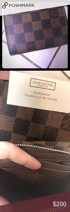 Louis Vuitton wallet LV wallet I got as a birthday gift Louis Vuitton Bags Wallets