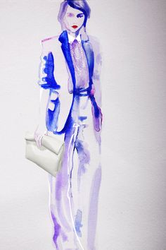Fashion Illustration Print  - CELINE #fashion#illustration #watercolor