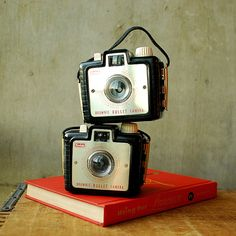 Instant Collection  Pair of Vintage Kodak Brownie Bullet by vint, $48.00
