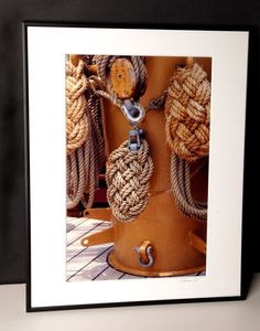 Artful Rope Framed and Matted Photograph by EnchantedStudios, $75.00