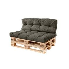 Refresh your garden pallet furniture with cosy cushions! Long Back Cushion: x x One will be sufficient per pallet space. Tufted Outdoor Fabric Pallet Long Back Cushion. Pallet Couch Outdoor, Outdoor Sofa Cushions, Diy Pallet Couch, Sun Lounger Cushions, Pallet Seating, Deep Seat Cushions, Diy Couch, Pallet Bench, Outdoor Decor