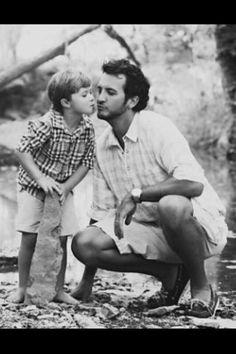 Luke Bryan and his son, Bo. SO adorable.