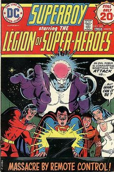 Superboy and the Legion of Super-Heroes #203. The death of Invisible Kid. Cover by Nick Cardy.