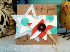 Pins from Pixel Maven's Retreat Star Cards, Stampin Up Catalog, High Five, Watercolor Cards, Stampin Up Cards, Hand Stamped, 4th Of July, Red And White, Artisan
