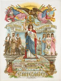Chicago 1893 World's Columbian Exposition Fair Remembrance Vintage Poster Repro | eBay