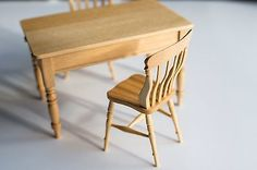 Rare Jane Newman Table and Chairs Signed 1:12 Scale